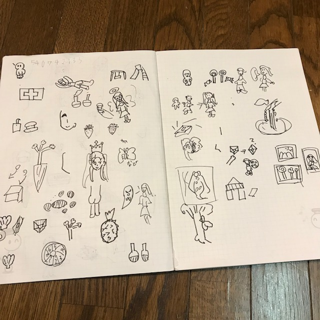 子ども同士オンラインでできる遊び絵しりとり1