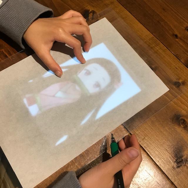 タブレットやスマホで写し絵画面を固定する方法