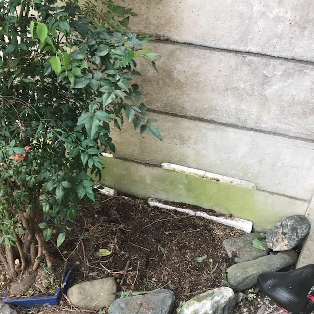プランターサイズの狭い花壇