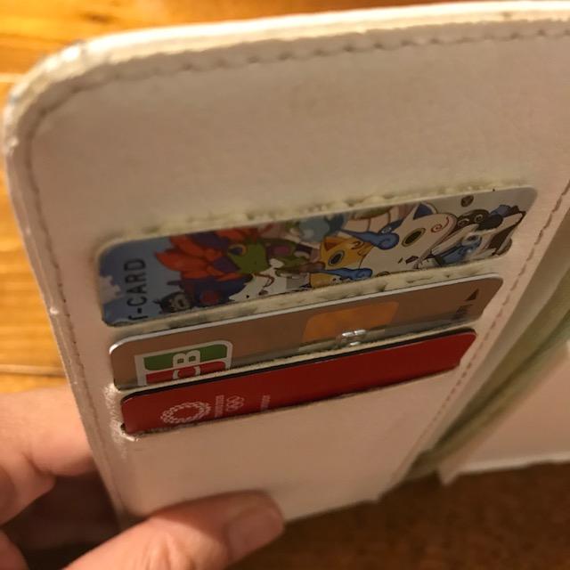 手帳型スマホケースカードが落ちる問題解決したが厚みが出た