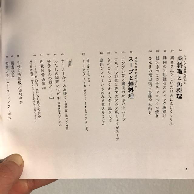 西荻窪居酒屋イイトコレシピ本目次2