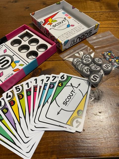 カードゲームSCOUT箱の中身