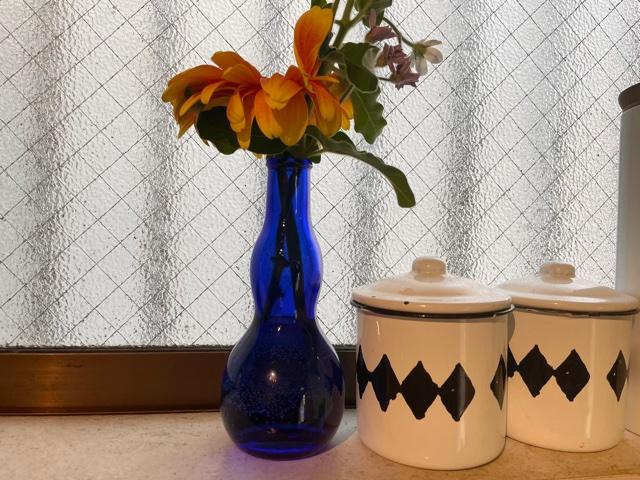 八海山ひょうたんボトルを花瓶に再利用