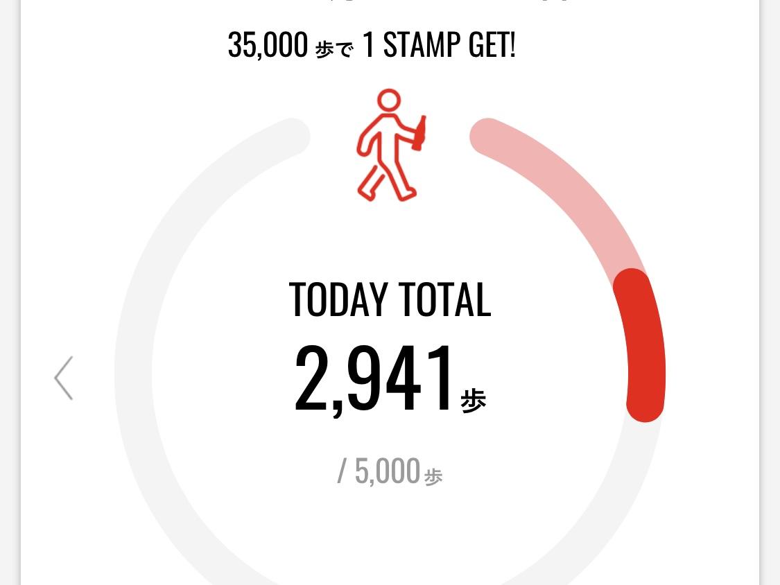 アプリで計測した歩数3