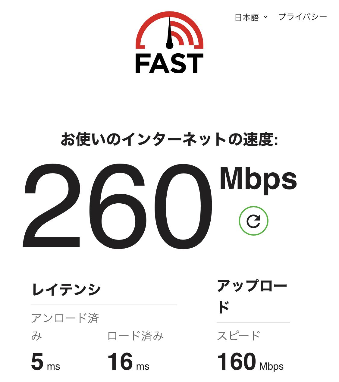スマホPhoneのインターネット回線速度