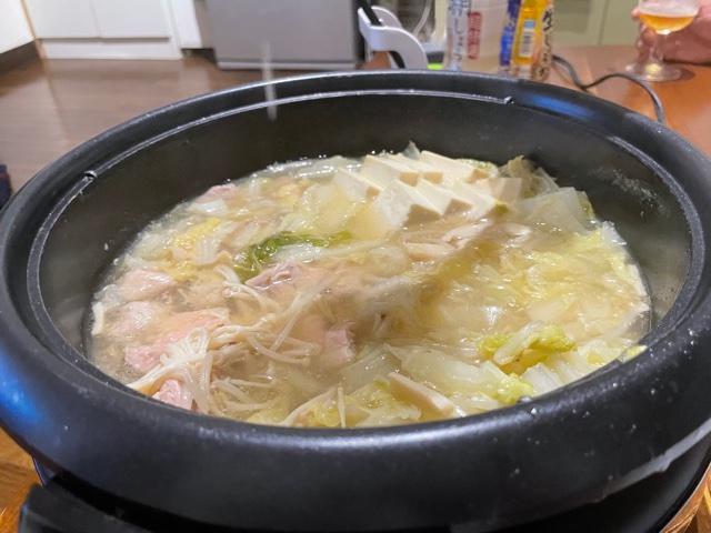 糀レモン鍋用スープしめはラーメン