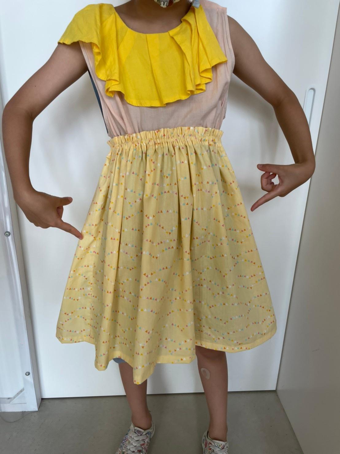 自由研究スカート作り完成図