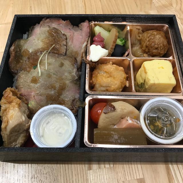 わったりぼうず秋田名物比内地鶏と牛モモの低温ローストビーフ弁当02